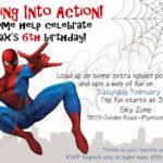 Download Now Free Template Free Printable Spiderman Birthday Throughout Superhero Birthday Card Template