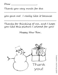 Download: Printable Holiday Thank You Note Template For Kids inside Christmas Note Card Templates