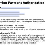 Download Recurring Payment Authorization Form Template For Credit Card Billing Authorization Form Template