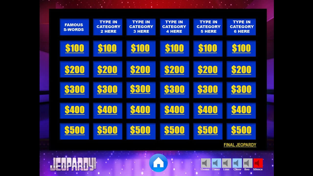 Download The Best Free Jeopardy Powerpoint Template – How To Make And Edit  Tutorial Within Jeopardy Powerpoint Template With Sound