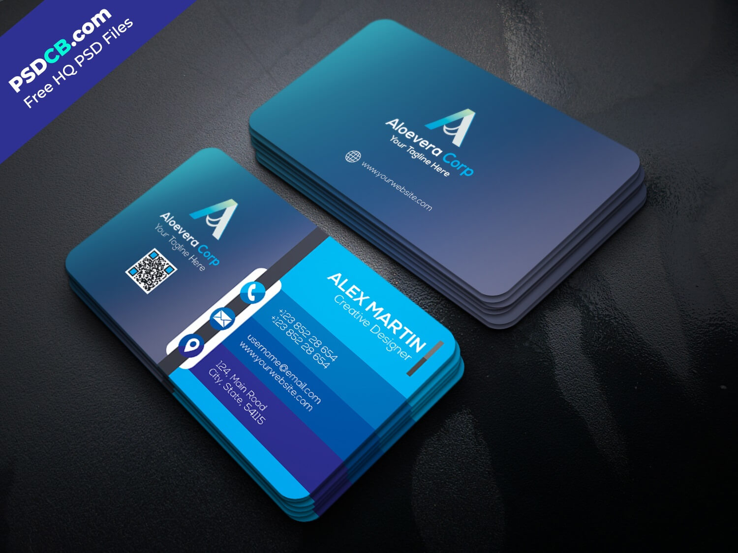 Download Unique Creative Business Card Template Psd Set For in Visiting Card Psd Template Free Download