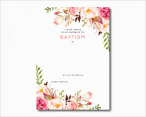 Downloadable Baptism Invitation Blank | Invitation Card with regard to Blank Christening Invitation Templates
