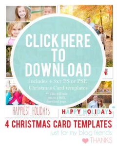 Downloadable Christmas Card Templates For Photos |  Free pertaining to Free Christmas Card Templates For Photoshop