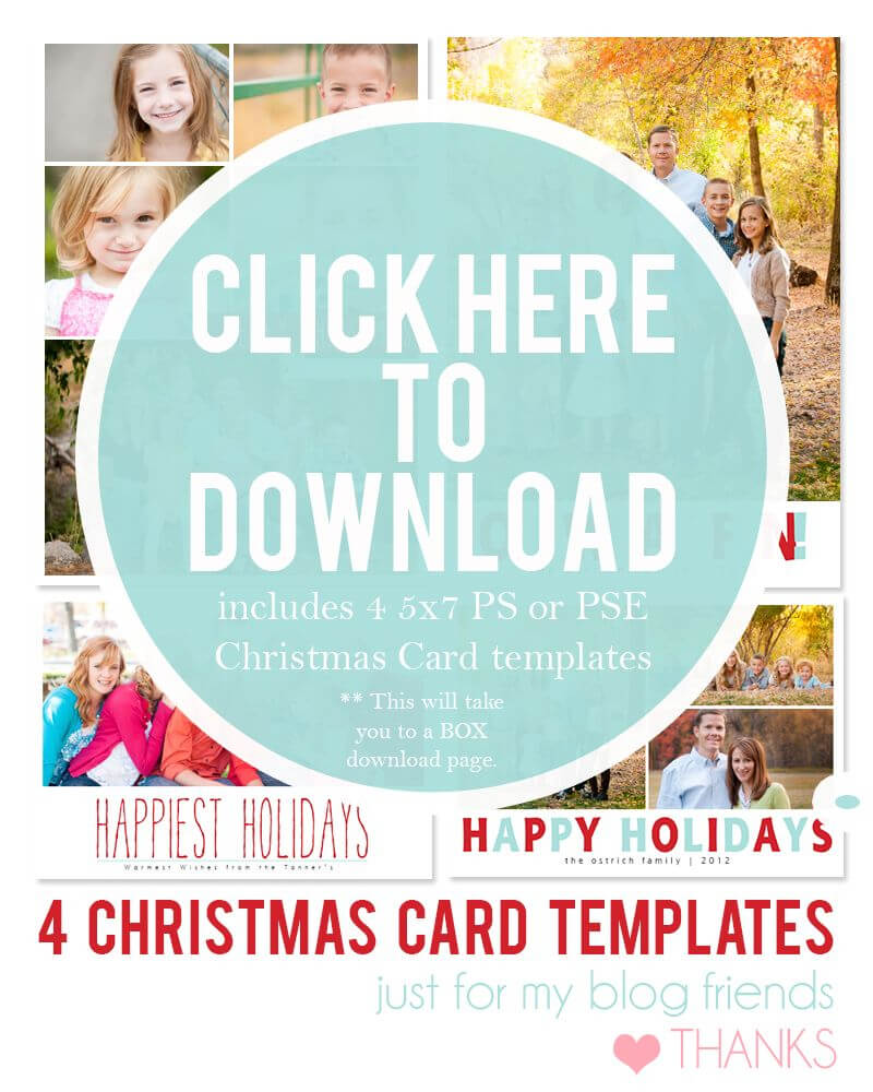 Downloadable Christmas Card Templates For Photos |  Free Regarding Diy Christmas Card Templates