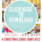 Downloadable Christmas Card Templates For Photos |  Free throughout Christmas Photo Card Templates Photoshop