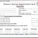 Downloadable Forms – Retreat In A Bag With Regard To Seminar Registration Form Template Word