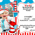 Dr.seuss 1St Birthday Invitation Template    Party Ideas For Dr Seuss Birthday Card Template