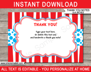 Dr Seuss Party Thank You Cards Template Intended For Dr Seuss Birthday Card Template