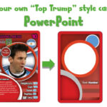 Draw A Top Trump Card Using Powerpoint Intended For Top Trump Card Template