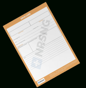 Drug Card Template | Nrsng within Med Card Template