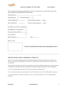 Drukair_Fit_To_Fly_Certificate_For_Pregnant_(Expactant)_ with Fit To Fly Certificate Template