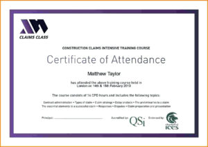 ✓ Template For Training Certificate Of Attendance Sample for Certificate Of Attendance Conference Template