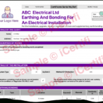 Earthing And Bonding Electrical Certificate From Icertifi For Electrical Isolation Certificate Template