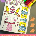 Easter Card Template   Mrs Mactivity Inside Easter Card Template Ks2