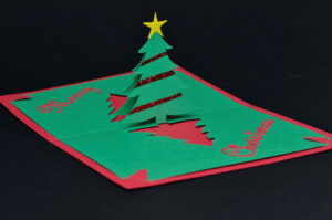 Easy Christmas Tree Pop Up Card Template Throughout Pop Up Tree Card Template