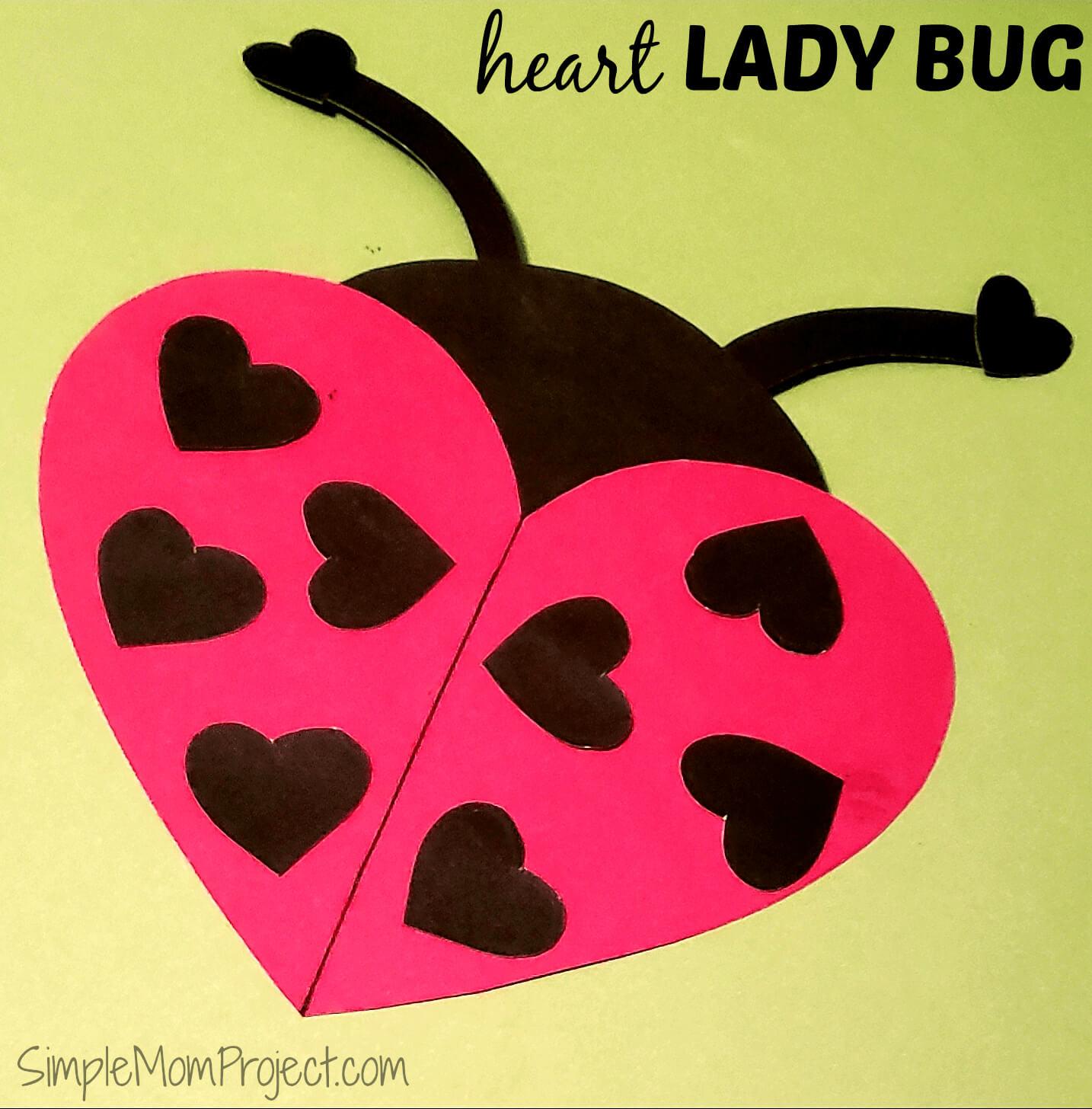 Easy Diy Valentine's Day Ladybug With Free Printable Regarding Blank Ladybug Template