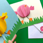 Easy Pop Up Chick Card – 3D Easter Card Diy – Cute & Easy In Easter Card Template Ks2