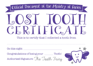 Easy Tooth Fairy Ideas & Tips For Parents / Free Printables for Free Tooth Fairy Certificate Template