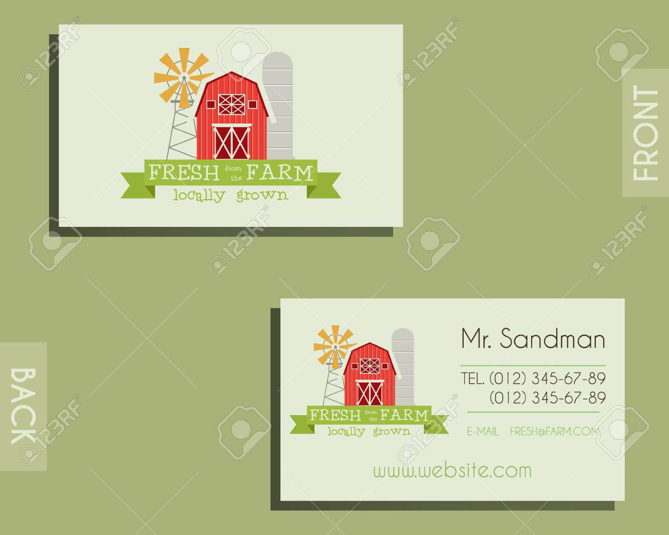 Eco, Organic Visiting Card Template. For Natural Shop, Farm Products.. For Bio Card Template
