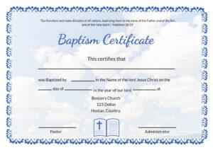 Editable Baptism Certificate Template In Adobe Photoshop in Baptism Certificate Template Word