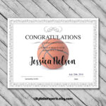 Editable Basketball Certificate Template - Printable for Basketball Camp Certificate Template