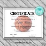 Editable Basketball Certificate Template – Printable For Basketball Certificate Template