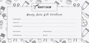 Editable Beauty Salon Gift Certificate Template Free throughout Salon Gift Certificate Template