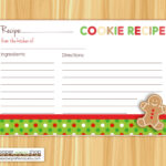Editable Cookie Exchange Party Recipe Cards Editable And Blank | Cookie  Swap Recipe Cards | Holiday Party | Recipe Card | Cookie Recipe Card with Cookie Exchange Recipe Card Template