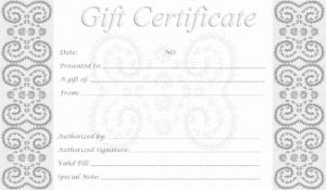 Editable Gift Certificate Template Unique 5 Best Of Free for Printable Gift Certificates Templates Free