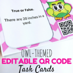 Editable Owl Qr Code Task Cards Template Freebie – Flapjack Within Task Cards Template