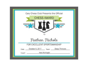 Editable Pdf Sports Game Team Chess Certificate Award regarding Hockey Certificate Templates