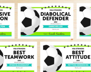 Editable Soccer Award Certificates – Instant Download within Soccer Award Certificate Templates Free