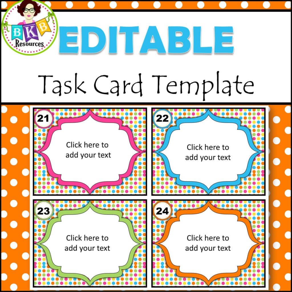 Editable Task Card Templates - Bkb Resources with regard to Task Cards Template