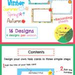 Editable Task Card Templates Seasonal Themed | My Products Regarding Task Cards Template