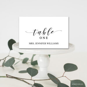 Editable Wedding Table Place Cards, Tent Fold Table Setting Name Cards,  Wedding Table Place Setting, Template, Diy Wedding, Pdf, Printable within Place Card Setting Template