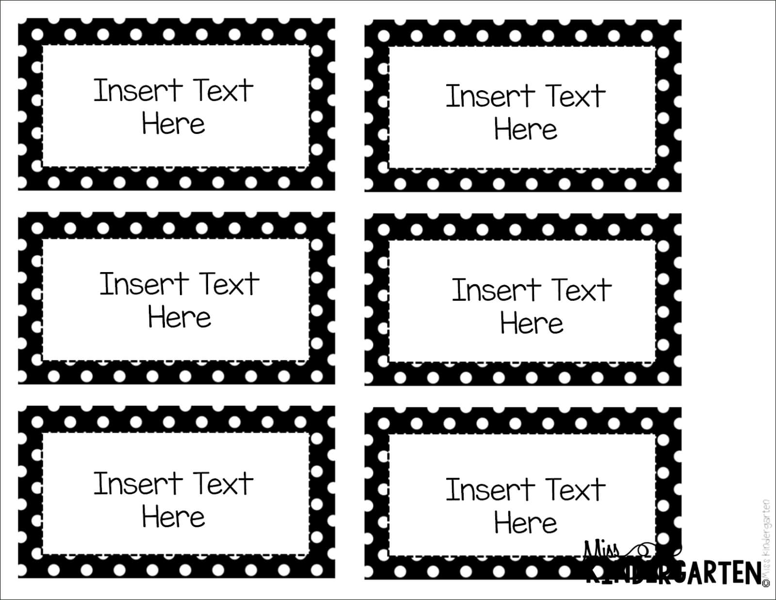 Editable Word Wall Templates | Back To School | Label Intended For Free Label Templates For Word