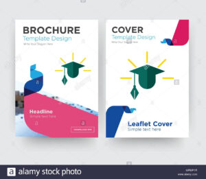 Education Brochure Flyer Design Template With Abstract Photo intended for Brochure Design Templates For Education