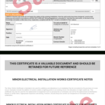 Electrical Certificate – Example Minor Works Certificate Intended For Electrical Installation Test Certificate Template