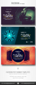 Electronic Music Party – Facebook Post Banner Templates Psd for Facebook Banner Template Psd