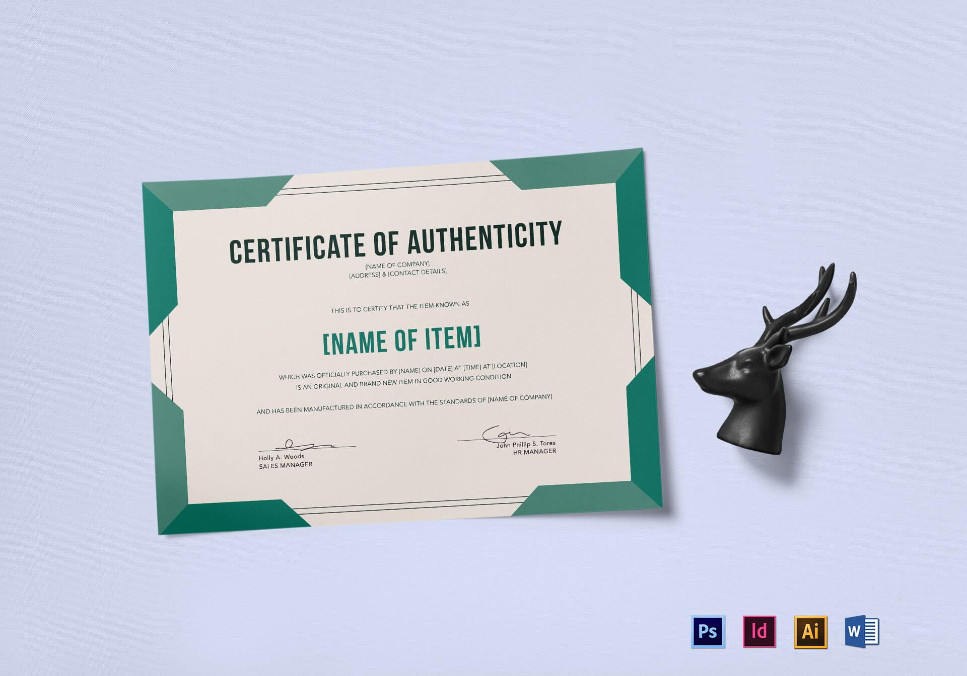 Elegant Certificate Of Authenticity Template In Sales Certificate Template