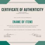 Elegant Certificate Of Authenticity Template Throughout Certificate Of Authenticity Template