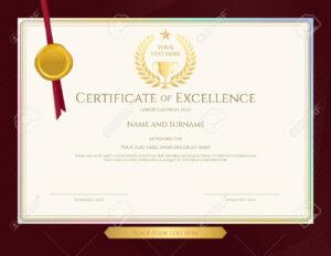 Elegant Certificate Template For Excellence, Achievement, Appreciation.. inside Elegant Certificate Templates Free