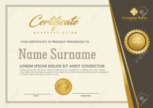 Elegant Certificate Template Vector With Luxury And Modern Pattern.. within Elegant Certificate Templates Free