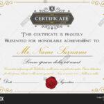 Elegant Certificate Vector & Photo (Free Trial) | Bigstock Regarding Elegant Certificate Templates Free