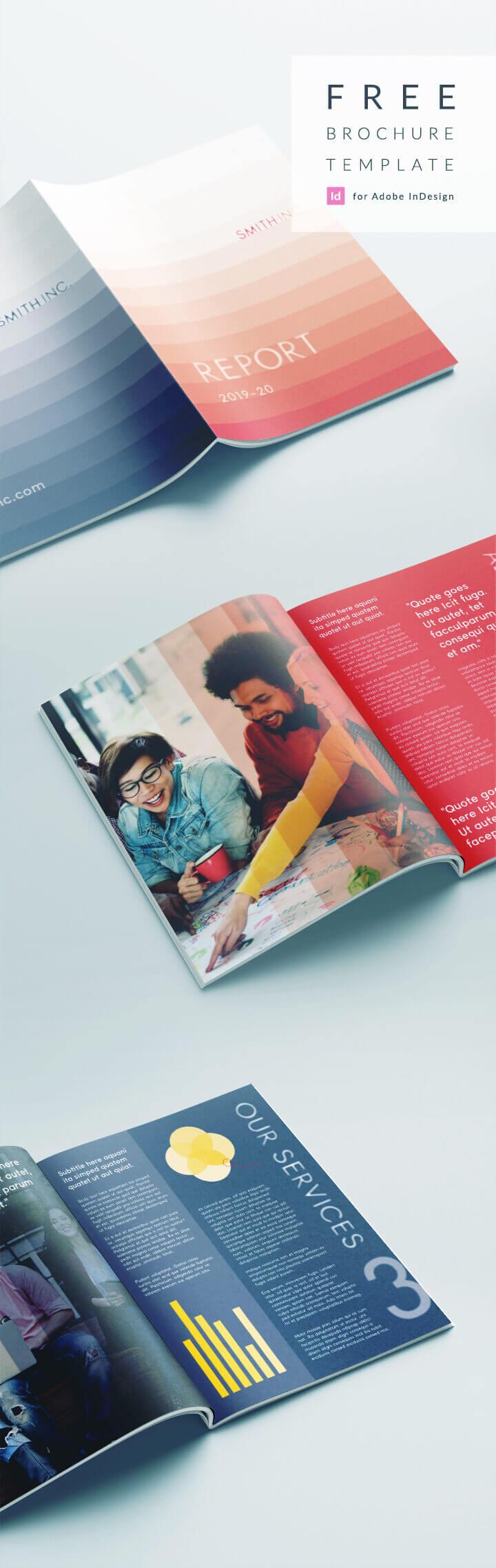 Elegant Corporate Brochure Or Report Indesign Template Throughout Free Indesign Report Templates