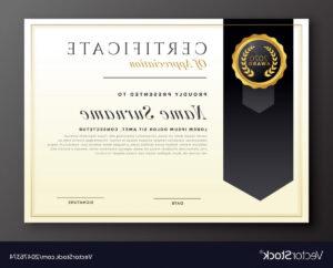 Elegant Diploma Award Certificate Template Design Vector inside Award Certificate Design Template