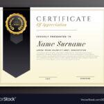 Elegant Diploma Award Certificate Template Design Vector Inside Elegant Certificate Templates Free