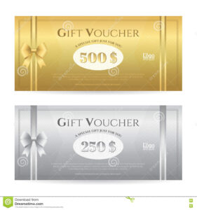 Elegant Gift Card Or Gift Voucher Template With Shiny Gold with Elegant Gift Certificate Template