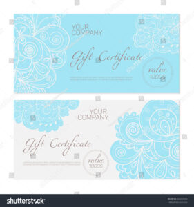 Elegant Gift Certificate Template Abstract Ornamental Stock in Elegant Gift Certificate Template