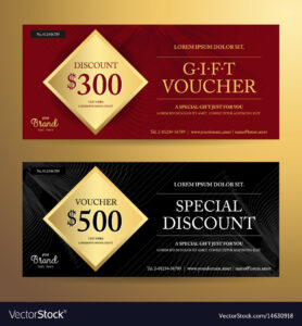 Elegant Gift Voucher Or Discount Card Template pertaining to Elegant Gift Certificate Template